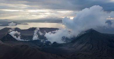 商船三井がタール火山被災地へ1万ドルの義援金